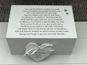 Personalised LARGE Memory Box ~ BABY LOSS ~ Any Name ~ Bereavement In Memory Of - 332574144395